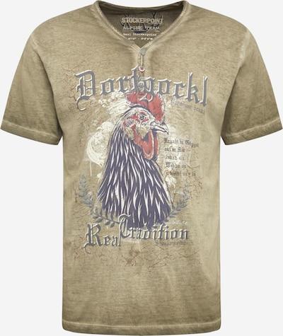 STOCKERPOINT T-krekls ar tradicionālo rakstu bēšs / tumši bēšs / tumši zils / jauktu krāsu / pasteļsarkans, Preces skats