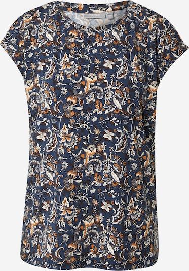 Fransa T-Shirt 'CESEEN' in de kleur Duifblauw / Kastanjebruin / Sinaasappel / Wit, Productweergave