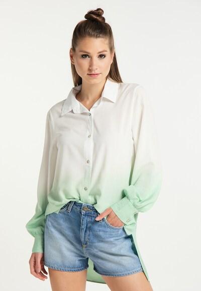 MYMO Hemdbluse in mint / weiß, Modelansicht