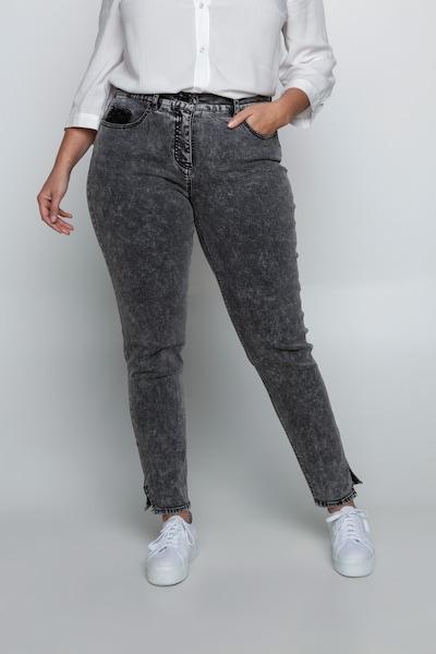 Ulla Popken Ulla Popken Damen große Größen Jeans 727285 in hellgrau, Modelansicht