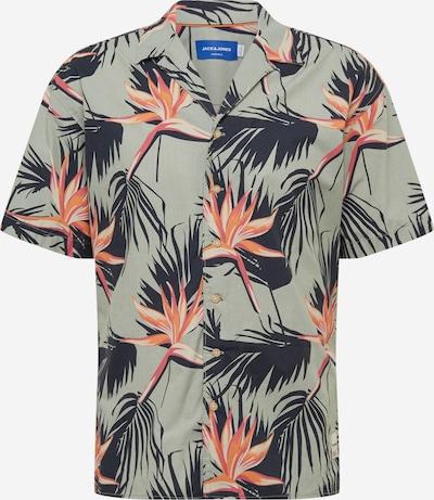 JACK & JONES Košile - zelená / jasně oranžová / pastelově růžová, Produkt