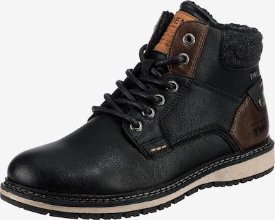 TOM TAILOR Stiefel in dunkelbraun / orange / schwarz, Produktansicht