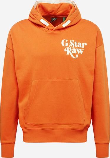 G-Star RAW Sweatshirt in orange / weiß, Produktansicht