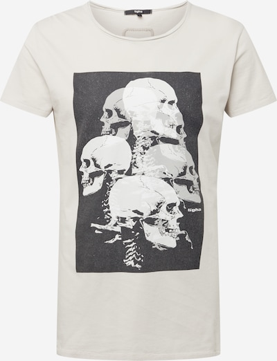 Tricou tigha pe negru / alb / alb lână, Vizualizare produs
