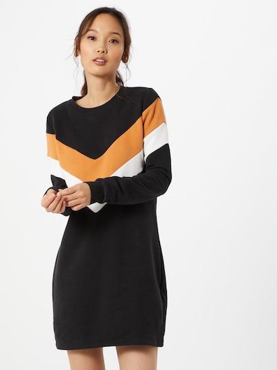 ONLY Kleid  'Dakota' in orange / schwarz / weiß, Modelansicht