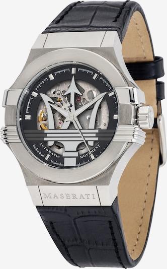 Maserati Uhr in schwarz / silber, Produktansicht