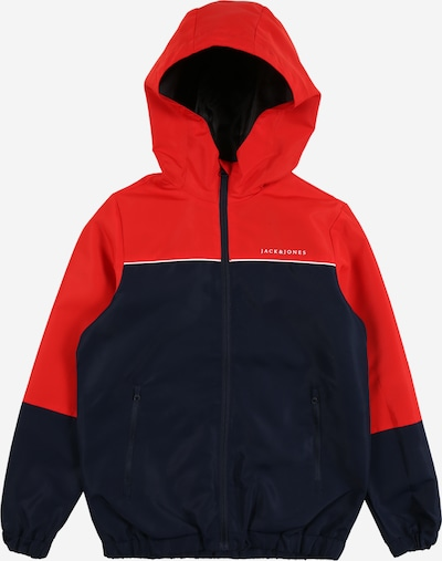 Jack & Jones Junior Tussenjas 'Melt' in de kleur Navy / Rood / Wit, Productweergave