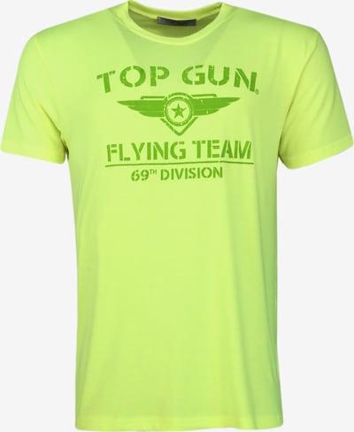 TOP GUN T-Shirt  ' Shining ' in gelb: Frontalansicht