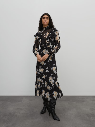 EDITED Kleid 'Wiyana' in mischfarben / schwarz, Modelansicht