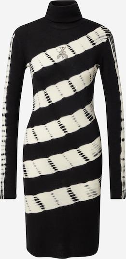 PATRIZIA PEPE Pletené šaty 'ABITO' - čierna / biela, Produkt