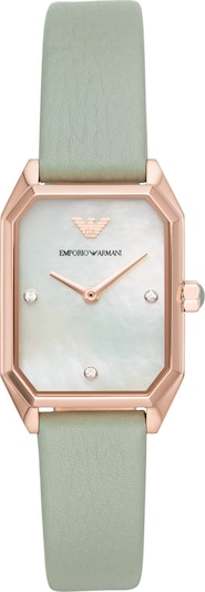 Emporio Armani Uhr in mint / rosé, Produktansicht