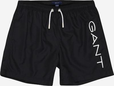 GANT Zwemshorts in de kleur Zwart / Wit, Productweergave