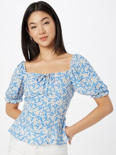 NEW LOOK Blouse 'SISSY' in Light blue / Dark orange / White, View model