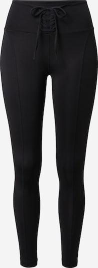 Pantaloni sport GUESS pe negru, Vizualizare produs