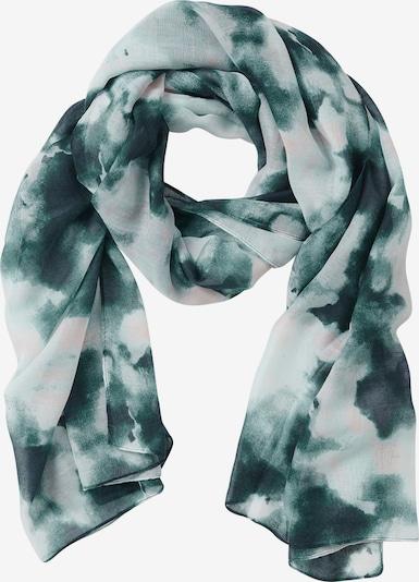 Cartoon Sjaal in de kleur Groen / Wit, Productweergave