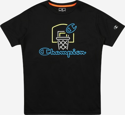 Champion Authentic Athletic Apparel T-Shirt in blau / gelb / grau / schwarz / weiß, Produktansicht