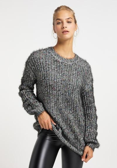 MYMO Strickpullover in schwarz, Modelansicht