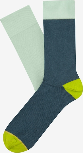 CHEERIO* Socks in Dusty blue / Neon yellow / Mint, Item view