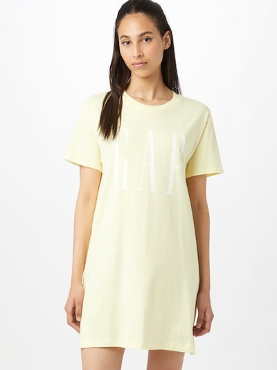 GAP Kleid in hellgelb / weiß, Modelansicht