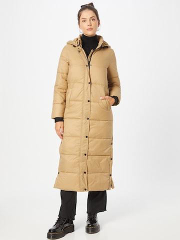 smėlio SISTERS POINT Žieminis paltas 'DUSTY'