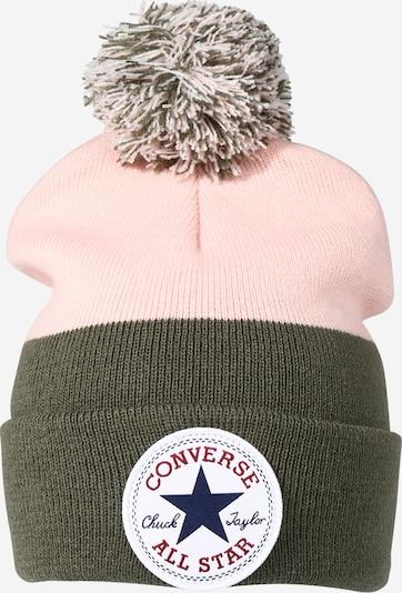 CONVERSE Bonnet en bleu / olive / rose / rouge / blanc, Vue avec produit