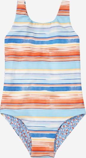 Seafolly Badeanzug in himmelblau / hellblau / gelb / dunkelorange / weiß, Produktansicht