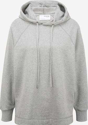 Selected Femme Petite Sweatshirt 'STASIE' in Grau