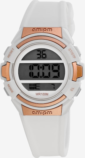 AM:PM Digitaluhr Colorful electronic sport watch in weiß, Produktansicht