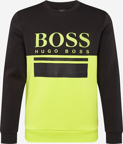 BOSS ATHLEISURE Sweatshirt 'Salbo 1' in Night blue / Neon green, Item view