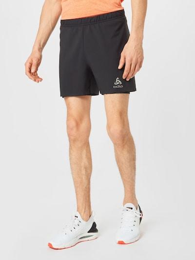 ODLO Sporthose in silbergrau / schwarz: Frontalansicht