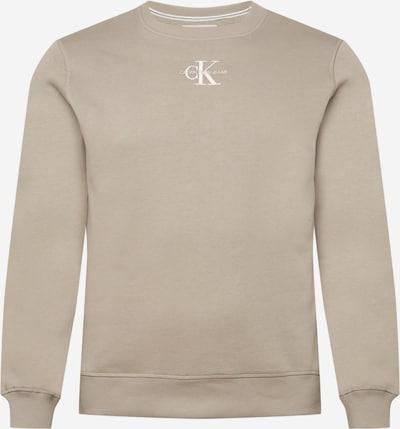 Calvin Klein Jeans Sweatshirt 'Essential' in hellbeige / weiß, Produktansicht
