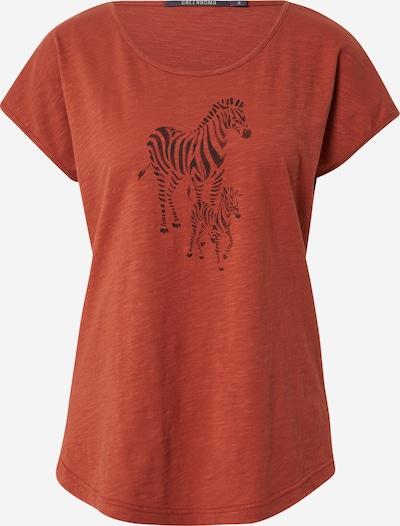 GREENBOMB Shirt in rostbraun / schwarz, Produktansicht