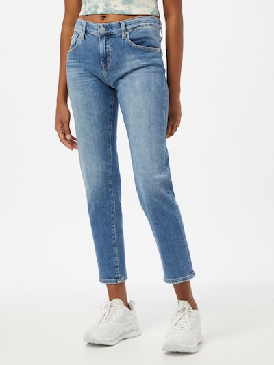 AG Jeans Vaquero en azul denim, Vista del modelo