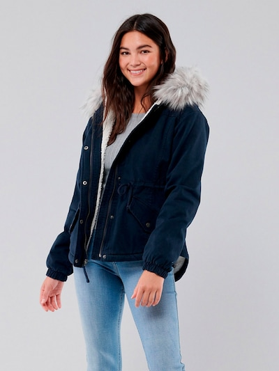 HOLLISTER Prechodná bunda - modrá / sivá, Model/-ka