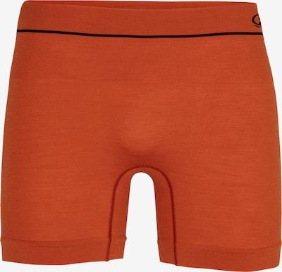 ICEBREAKER Boxershorts in orange / schwarz, Produktansicht