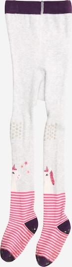 MAXIMO Hlačne nogavice 'Einhorn' | pegasto siva / jajčevec / roza barva, Prikaz izdelka