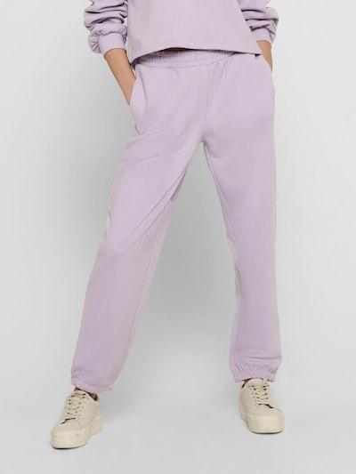 ONLY Pantalon en lilas, Vue avec modèle
