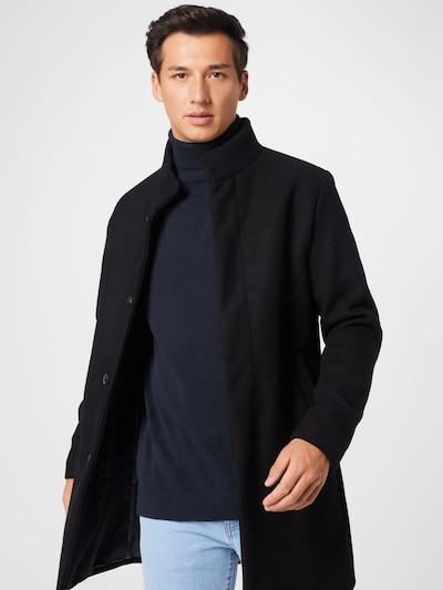 JACK & JONES Övergångsrock 'JJECONNOR WOOL COAT' i svart, På modell