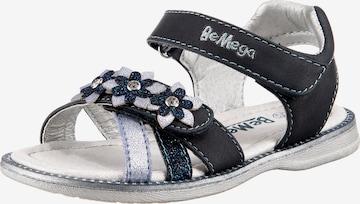 Be Mega Sandale in Blau