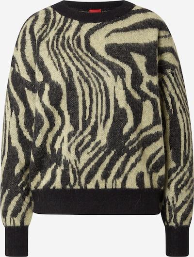 HUGO Pullover in oliv / schwarz, Produktansicht