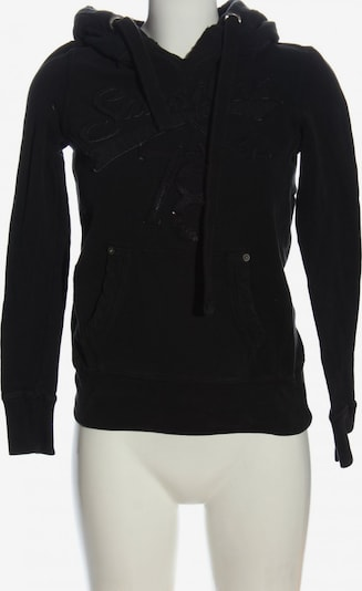 SANSIBAR Kapuzensweatshirt in XXS in schwarz, Produktansicht
