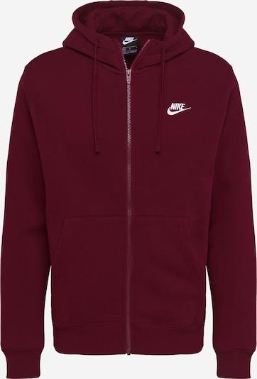 Džemperis iš Nike Sportswear , spalva - vyno raudona spalva / balta: Vaizdas iš priekio