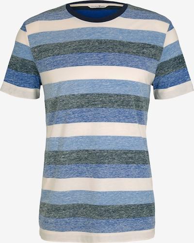 TOM TAILOR DENIM Shirt in de kleur Blauw / Grijs / Wit, Productweergave