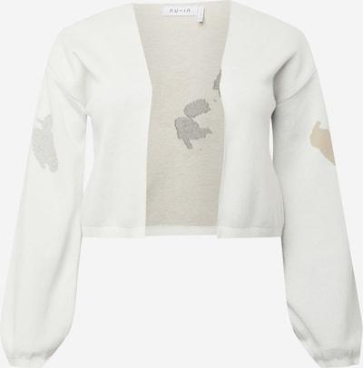 NU-IN Plus Strickjacke in beige / schwarz / weiß, Produktansicht