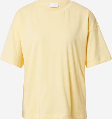 VILA - Camiseta talla grande 'DREAMERS' en amarillo