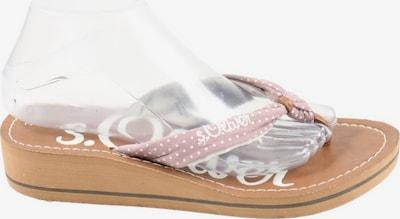 s.Oliver Flip Flop Sandalen in 39 in braun / pink, Produktansicht