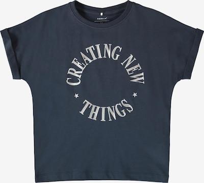 NAME IT Shirt 'Bisan' in nachtblau / silber, Produktansicht