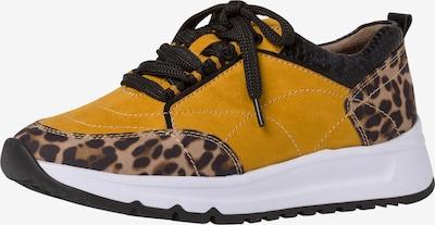 JANA Sneakers laag in de kleur Geel: Vooraanzicht