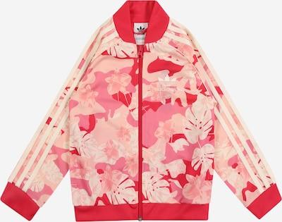 ADIDAS ORIGINALS Trainingsjacke in creme / rosa / himbeer / hellpink, Produktansicht