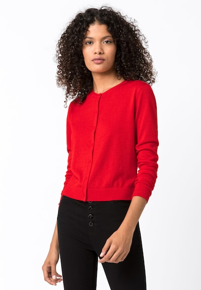 HALLHUBER Basic-Cardigan in rot, Modelansicht